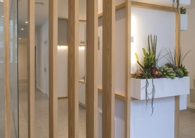 Interior design dental clinic Dra. Adriana Gutiérrez - detail wood