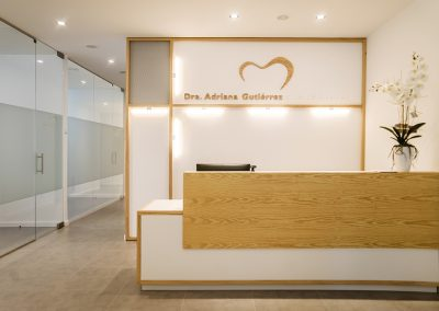 Interior design dental clinic Adriana - desk