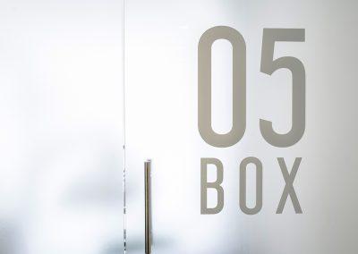 Interiorisme Clínica Dental Beatriz Rubio - Detall Box Vidre