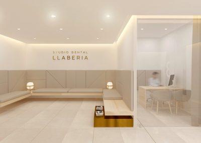 Disseny d'Interiors Clínica Dental Llaberia - Sala d'espera | Despatx