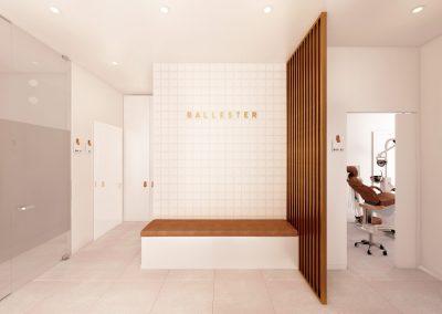 Interiorismo clínica dental - Bancada sala espera