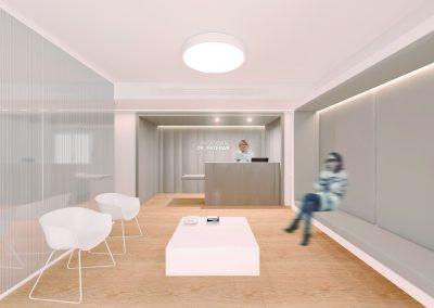 Reforma clínica dental Sabadell - Sala espera i mostrador
