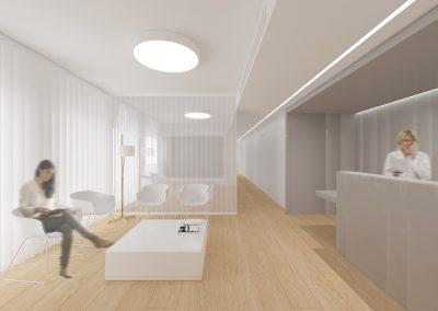Reforma clínica dental Sabadell - Passadís